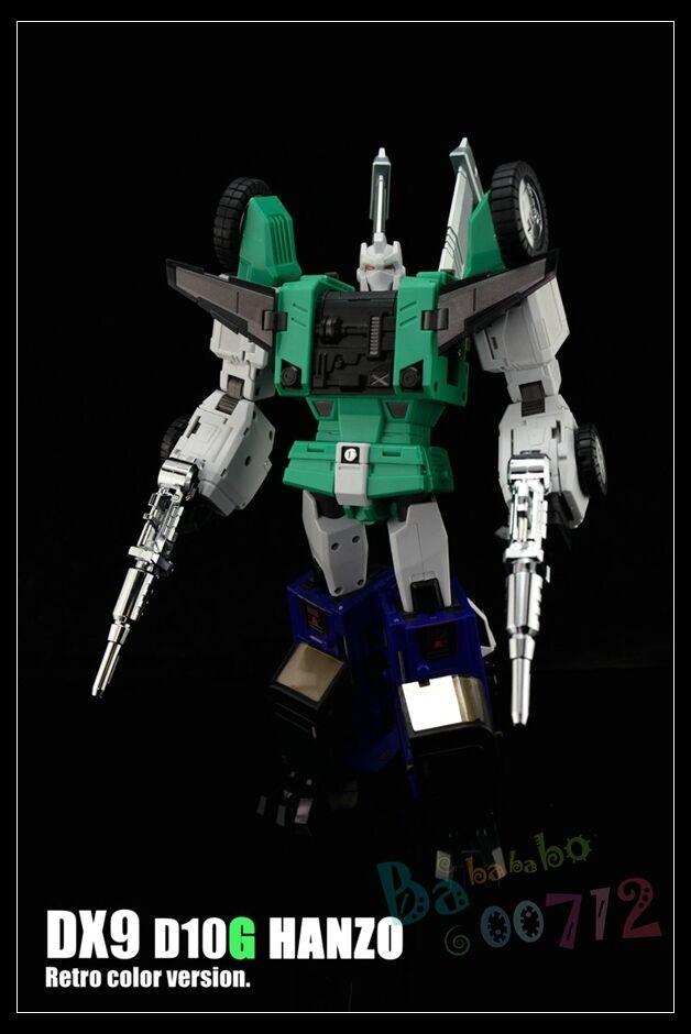 Transformers DX9 Toys D10G  Hanzo Rétro Couleur version Pistolets mitrailleurs Sixshot G1 FIGURE nouveau  au prix le plus bas