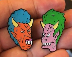 Beavis-and-Butthead-2-enamel-pin-demon-LOT-retro-90s-MTV-Judge-metal-halloween
