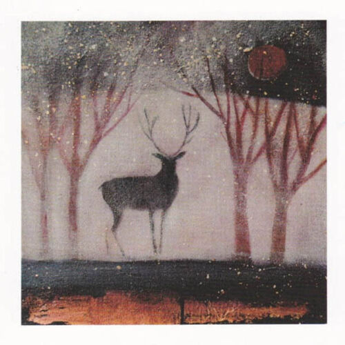 PAGAN WICCAN GREETING CARDS Through the Veils CELTIC STAG Goddess CATHERINE HYDE