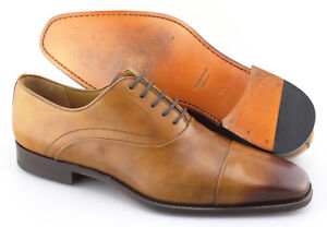 496ded2c8b6 Men s MAGNANNI  Saffron  Cuero Brown Leather Cap Toe Oxfords Size US ...