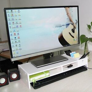 Home Office Desktop Organizer PC Computer Monitor LCD TV Stand
