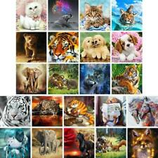 Cat Tiger Elephant DIY Full Drill 5D Diamond Embroidery Painting Cross Stitch