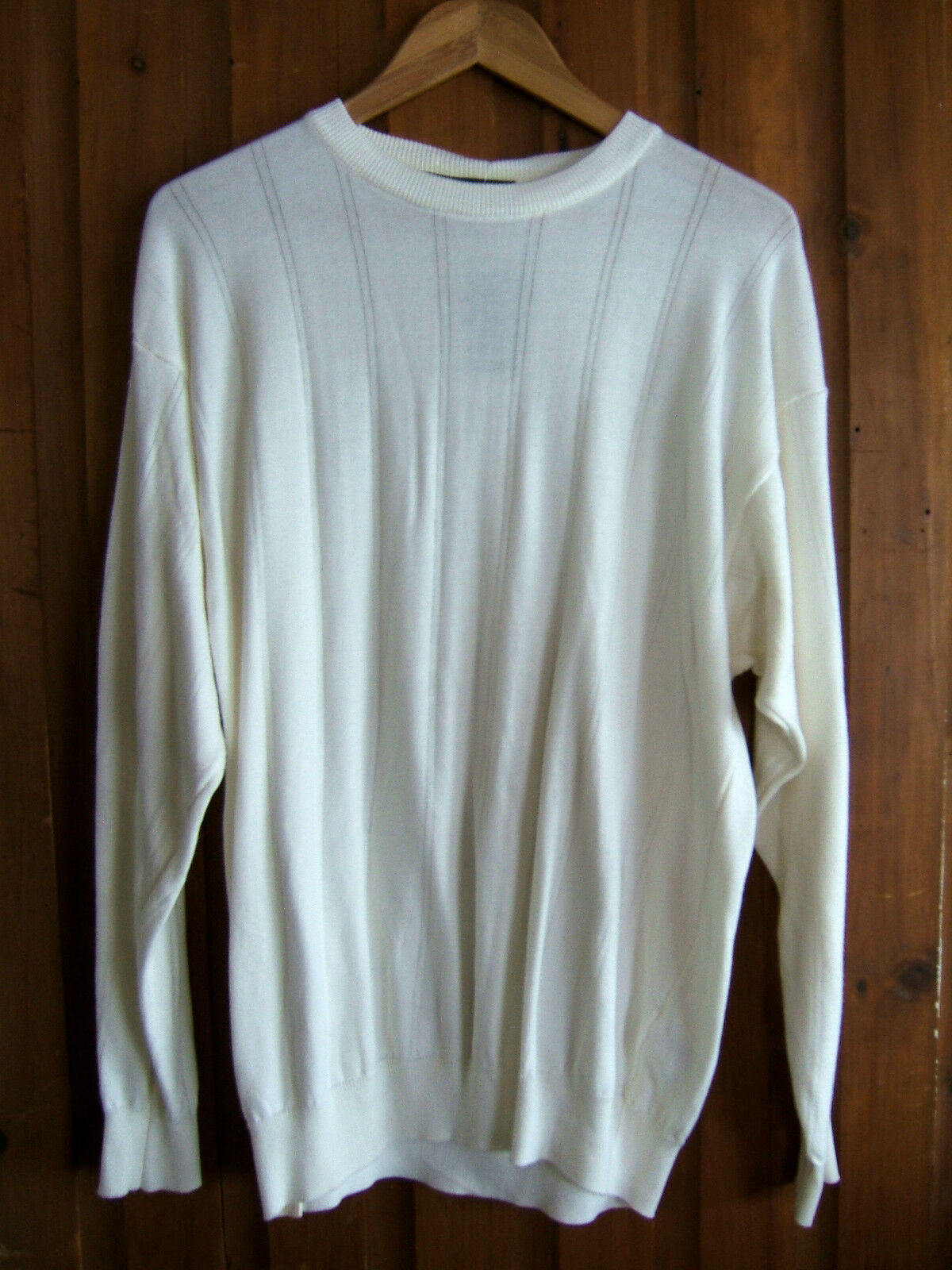 NWT Tricots St. Raphael Designer Stone Wash White Handsome Jumper Sweater S