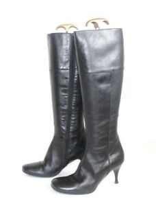 Eur36 Stiletto Leather Women's Heel 100 Uk3 High Vagabond Knee Zip Boots Black qBBEUPw