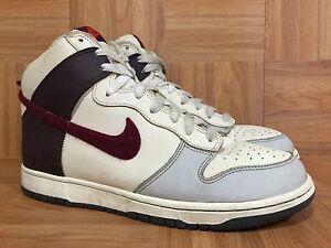 official photos 7ebf1 fa54a Image is loading RARE-Nike-Dunk-High-Vintage-Neutral-Gray-Deep-