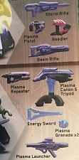 Megablocks Halo Covenant Weapons Pack With Beam Rifle - Plasma Pistol - Shields