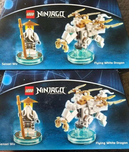 LEGO DIMENSIONS The Movie Fun Pack Sensei Wu Ninjago White Dragon 71234 58 pcs