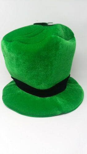 St Patricks Day TOP OF THE MORNING Green Leprechaun Top Hat NWT