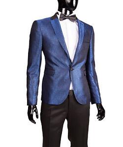 Slim-Fit-Herrenanzug-in-Blau-Smoking-Anzug-Hochzeit-Buehne-Sakko
