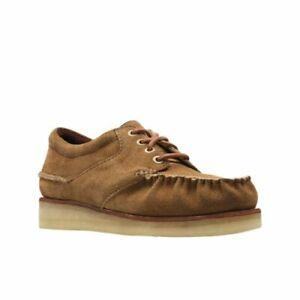 100% authentisch Braun Halbschuhe Gr 43 Clarks Sneaker