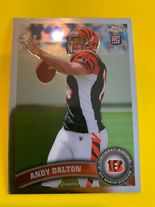 ANDY-DALTON-2011-Topps-Chrome-Rookie-51-Cincinnati-Bengals-Cowboys-TCU-RC