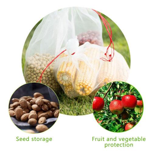 50 Stk Trauben Netz Beutel Garten Netztaschen Weiß Obst GemÜSe Schutz Taschen
