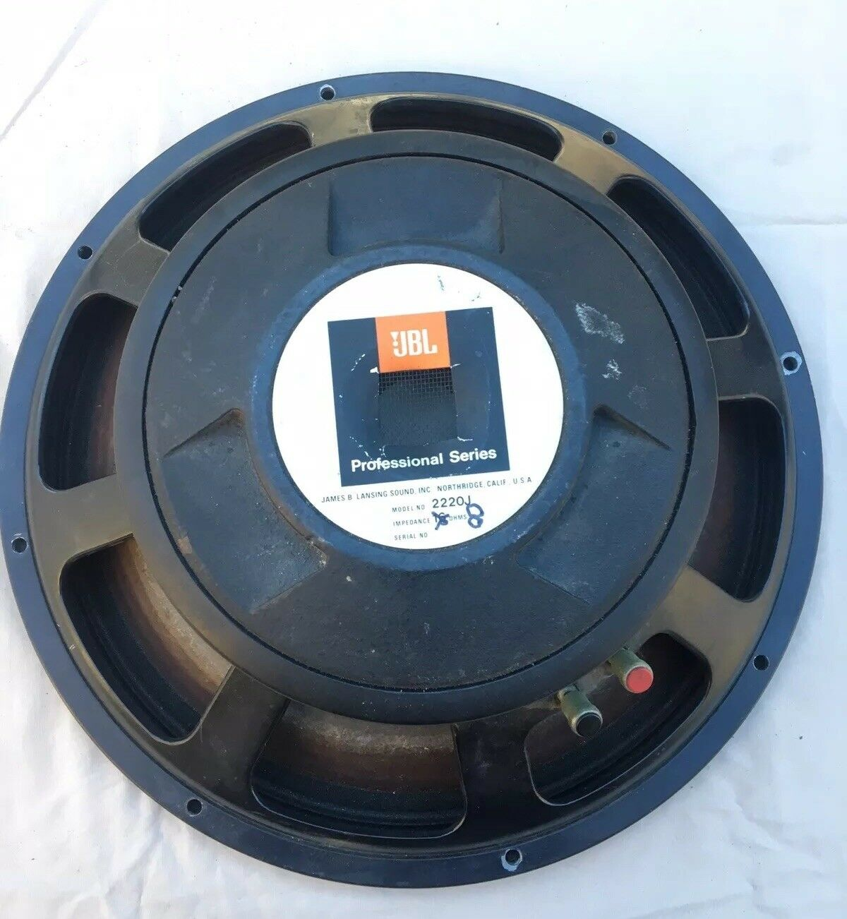 JBL 15  Professionals Series 2225H Type From 2220J Speaker Woofer 8 OHMS (03)