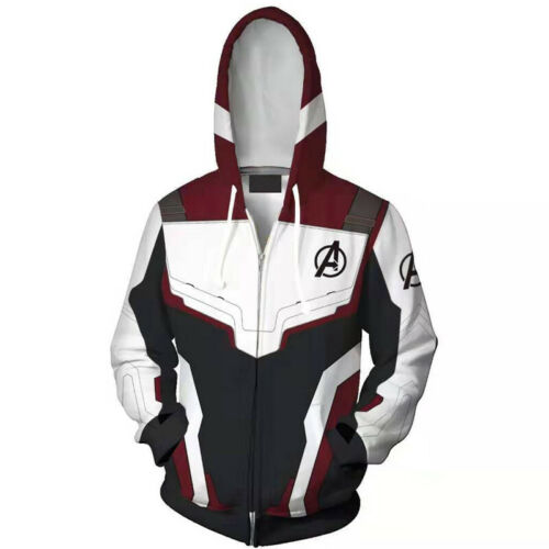 Men Avengers 4 Endgame 3D Printed Hooded Coat Jackets Trouser Sports Tracksuit