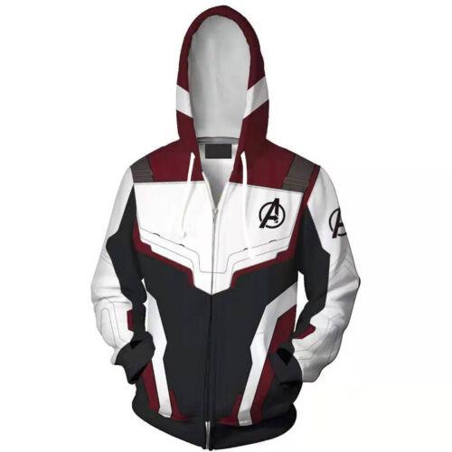 Men Avengers 4 Endgame 3D Printed Hooded Coat Jackets Trouser Sports Tracksuit