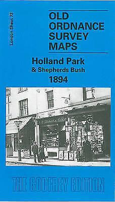 OLD ORDNANCE SURVEY MAP Holland Park & Shepherds Bush 1894: London Sheet 073.2