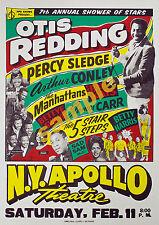 Vintage Soul Music concert Poster Print - Otis redding + More