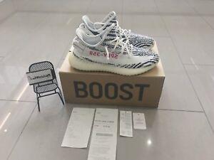 Adidas-Yeezy-Boost-350-V2-Zebra-UK-8-5-US-9-boite-d-039-origine-et-reception-PDNV
