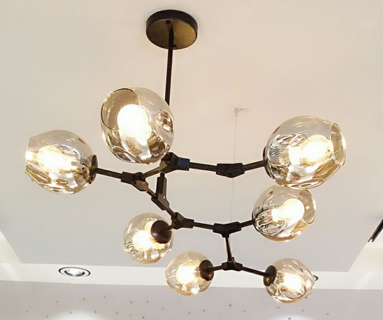 9 5 Branch Chandelier Glass 3 7 11 Globes Pendant Lamp Adjustable Joints 8