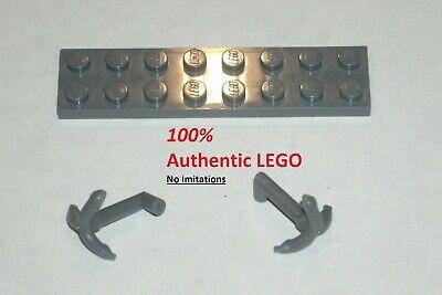LEGO NEW Dark Stone Grey Bar Holder with Clip 6015890 Brick 11090 10x