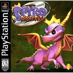 Spyro-2-Ripto-039-s-Rage-PlayStation-1-PS1-Game-Complete-CLEANED-VG