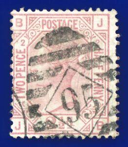 1875-SG139-2-d-Rosy-Mauve-Plate-2-BJ-Good-Used-clear-Diamond-95-CV-FU-120-akpa