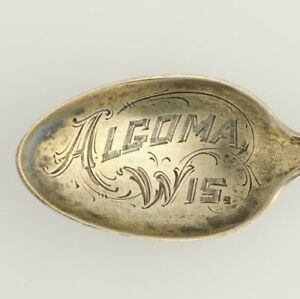 Algoma-Wisconsin-Souvenir-Spoon-Sterling-Silver-Vintage-Collectors-Engraved