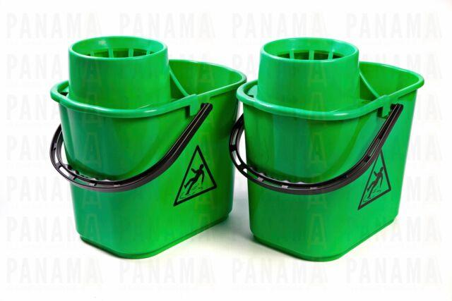 Ramon Optima Heavy Duty Green Mop Bucket 12ltr x2 (5040G)