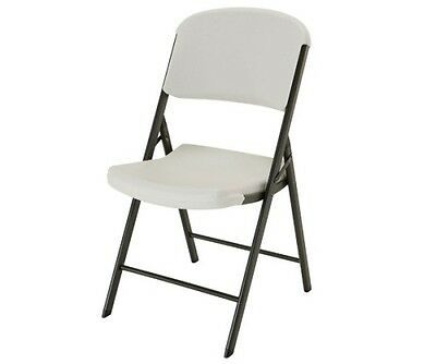 Strange New Lifetime Plastic Folding Chairs 4 Pack 42803 Durable Contoured Seats Almond 81483428031 Ebay Machost Co Dining Chair Design Ideas Machostcouk