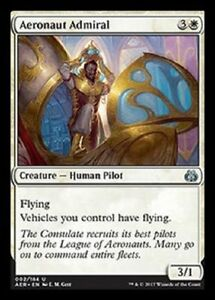 Aeronaut Admiral NM  X4 Aether Revolt White Uncommon MTG