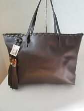 Gucci LARGE  Leather Handbag Tote W Bamboo Tassels Brown BRAND NEW 354666