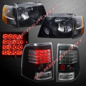 Image Is Loading Black Headlights W Corner Lights Led Taillights For