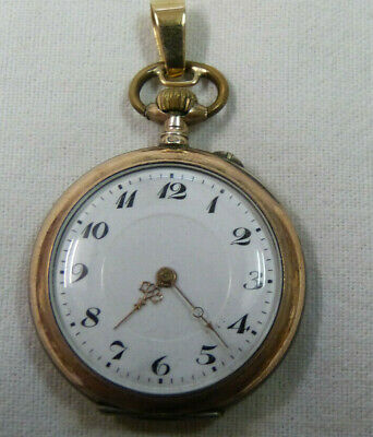 Hübsche Damentaschenuhr - Teilvergoldtes Silbergehäuse Kaufe Jetzt