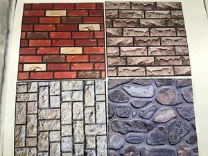 Carta Da Parati Adesiva Bagno : 3d carta da parati adesiva pareti muro pietra mattoni rustico