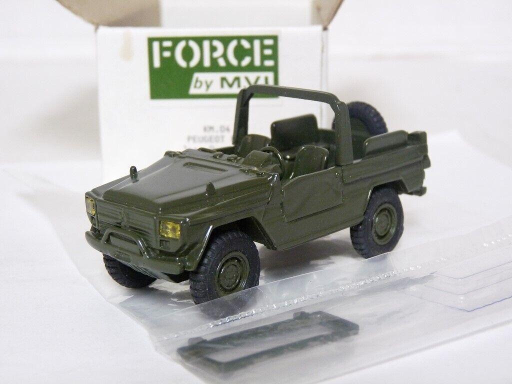 MVI Force KM04 1 43 Peugeot P4 French Military Army SUV Resin Handmade Model Car