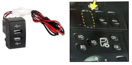 12/24v Armaturenbrett Dual USB Port Lkw LADER Steckdose für Scania P R G Led