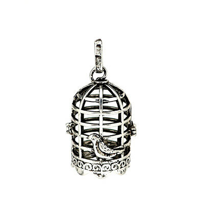 1PC Silver Alloy Ball Tree Hollow Beads Cage Locket Pendant B64
