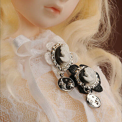 Dollmore BJD accessory Cameo RF MF Luna Lace Brooch (Black)