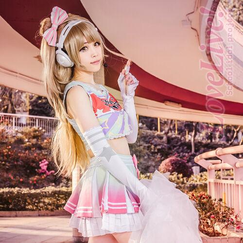 Love Live School Idol Project Minami Kotori Cosplay Cheerleader Dress Costume