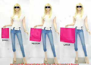 20x PAPER CARRIER BAGS TWISTED HANDLE HIGH QUALITY GIFT BOUTIQUE BAG PINK CERISE
