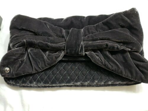 Womens Juicy Couture Gray Velour Clutch MSRP $198