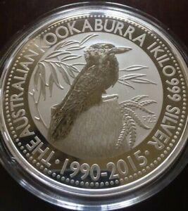2015-1-Kilo-999-Silver-Australian-Kookaburra-25th-Anniversary-Coin