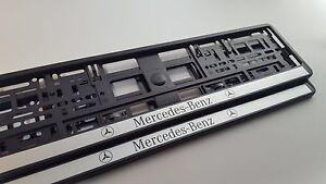 2x-Portamatriculas-Mercedes-Benz-w204-w211-w205-w117-w221-w176-w163-w164-w220