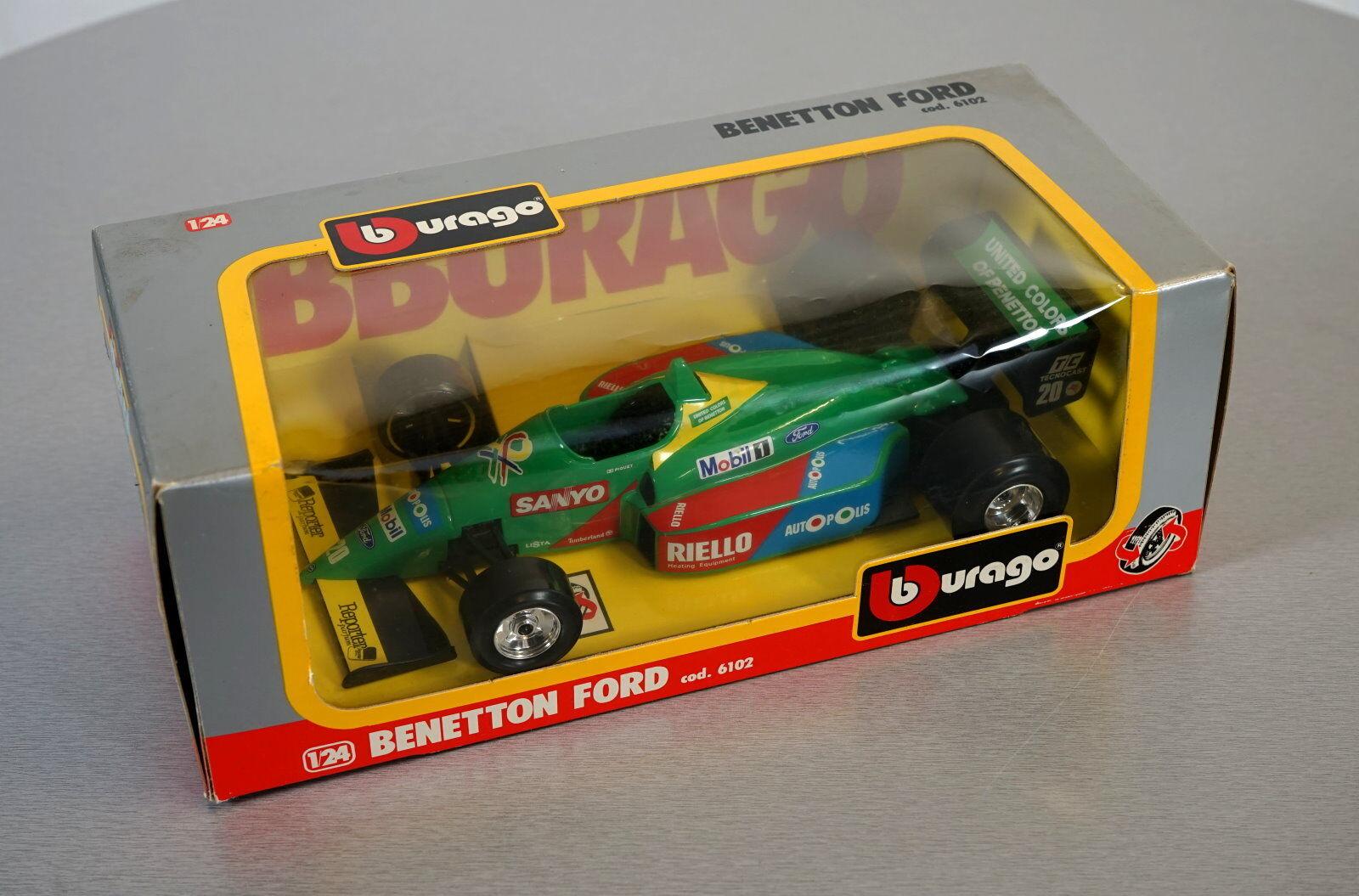 Burago 1 24 Benetton Ford - 6102 - - - Die-Cast Racing Car Scale Modell Auto NEU OVP  | Stilvoll und lustig  7e02aa