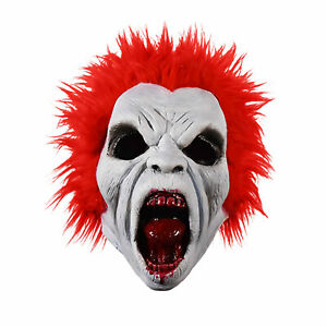 Adult-Mens-Return-of-Living-Dead-Trash-Red-Zombie-Halloween-Costume-Latex-Mask