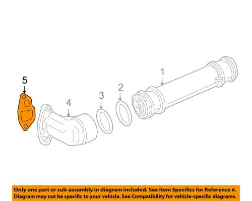 FORD OEM 94-97 F-350 7.3L-V8 Engine Oil Cooler-Adapter Gasket F4TZ6A636A