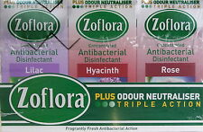 6 X 56ML  ZOFLORA ANTIBACTERIAL *DISINFECTANT CLEANER* kills germs & odour MIXED