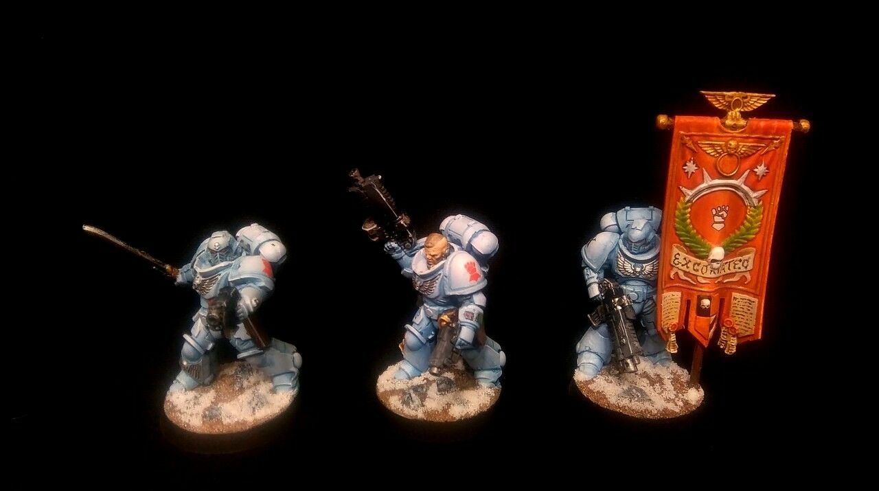 READY TO SHIP PRO-PAINTED Primaris Extoriators Command Squad Kill Team 3 models