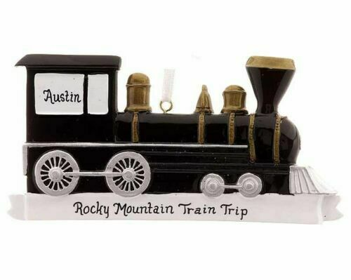 Locomotive Personalized Christmas Tree Ornament For Sale