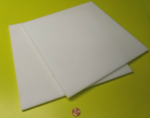 """.250 Thick x 12/"""" Width x 12/"""" Length 2 Units 1//4 Delrin Acetal Sheet White POM"""